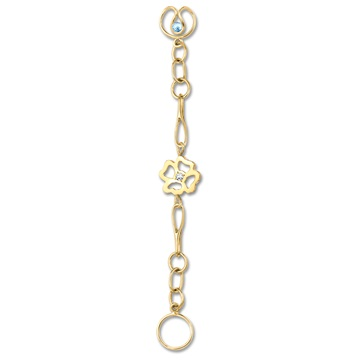 Long Clover Expression, 9ct gold plate