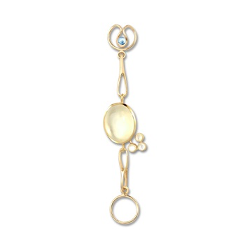 Short Moonstone Expression, 9ct gold plate