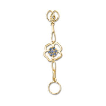 Short Daisy Expression, 18ct yellow gold