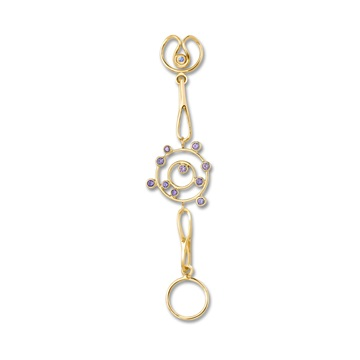 Short Stellar Expression, 18ct yellow gold