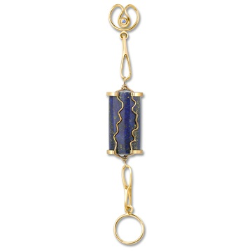 Short Lapis Lazuli Expression, 18ct yellow gold