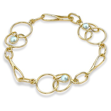 Short Link Bracelet, 9ct gold plate