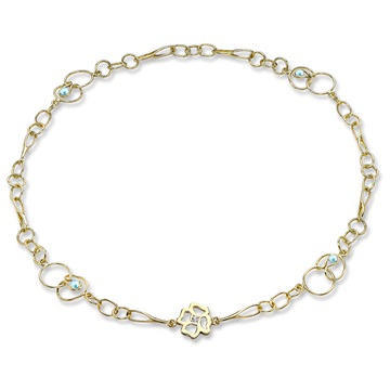 Clover Long Link Necklace, 9ct gold plate