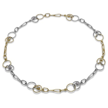 Short Link Necklace, 18ct golds