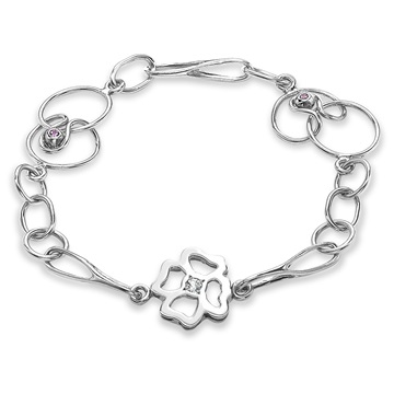 Long Clover Expression Bracelet, 18ct white gold