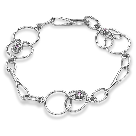 Short Link Bracelet, 18ct white gold