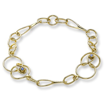 Long and Short Link Bracelet, 18ct yellow gold