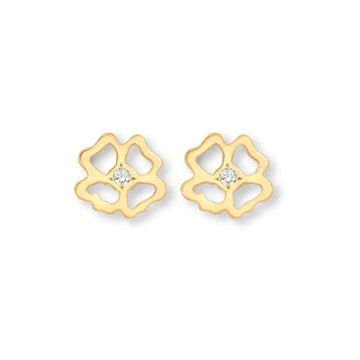 Clover Infinity Stud Earrings 9ct gold plate