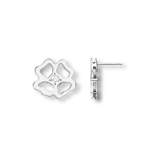 Clover Infinity Stud Earrings silver
