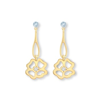 Clover Infinity Long Drop Earrings 9ct gold plate