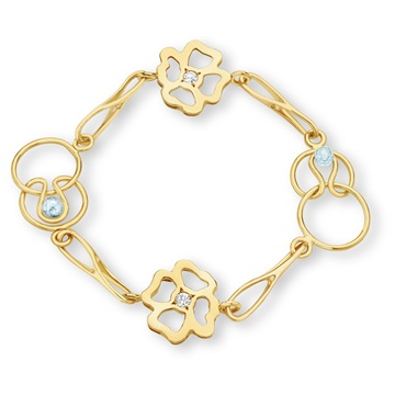 Short Clover Expression Bracelet 9ct gold plate
