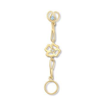 Short Clover Infinity Expression 9ct gold plate