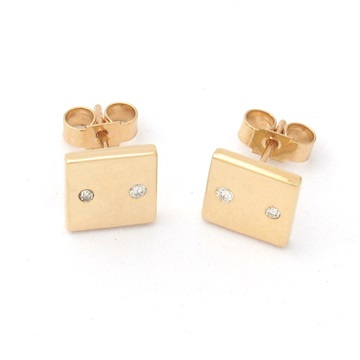 Diamond button Studs