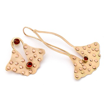 Asymmetric Spessartite Garnet Earrings
