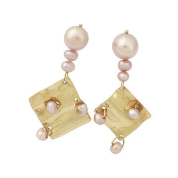 Short Drop Pearl Earrings