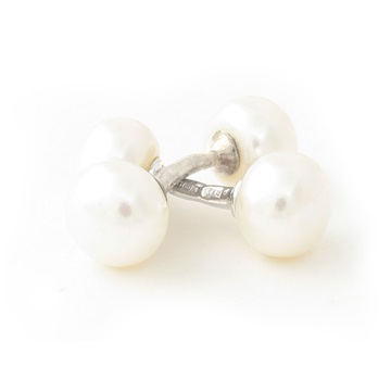 White pearl cufflinks