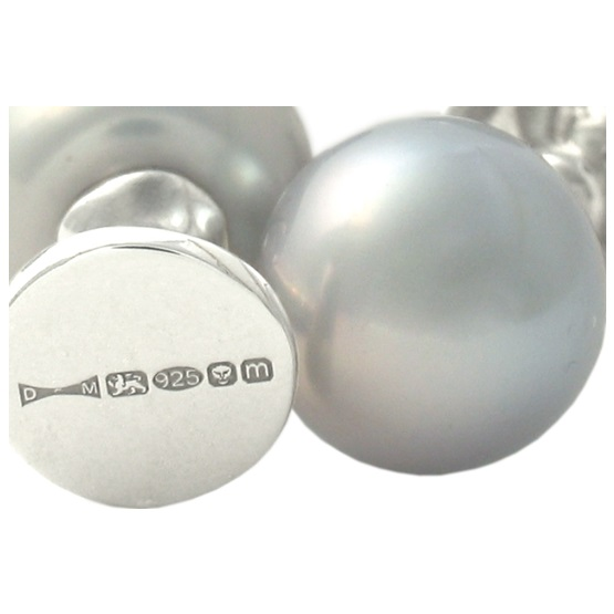 4 Grey Pearl Dress Studs
