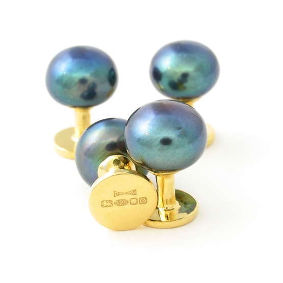 9ct  plate Dress Studs PP