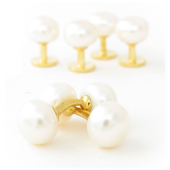 9ct  plate Dress Studs WP
