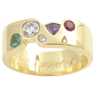 Bejewelled wedding ring
