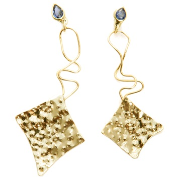 Pear Sapphire Earrings
