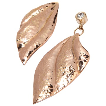 14kt Asymmetric gold earrings